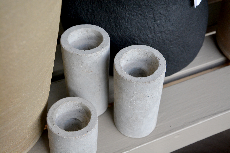 Stone Candleholders Detroit Garden Works