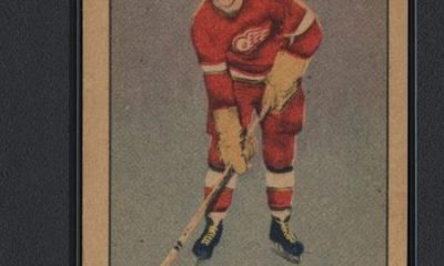 A 1951 Parkhurst Gordie Howe rookie trading card,rated a PSA 8.5, sold for more than $210,000 at a recent auction.