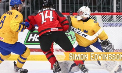 The Detroit Red Wings took defenseman Simon Edvinsson with the No. 6 pick.