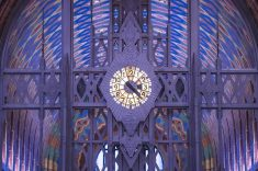 Tiffany Clock in the Guardian Building Lobby