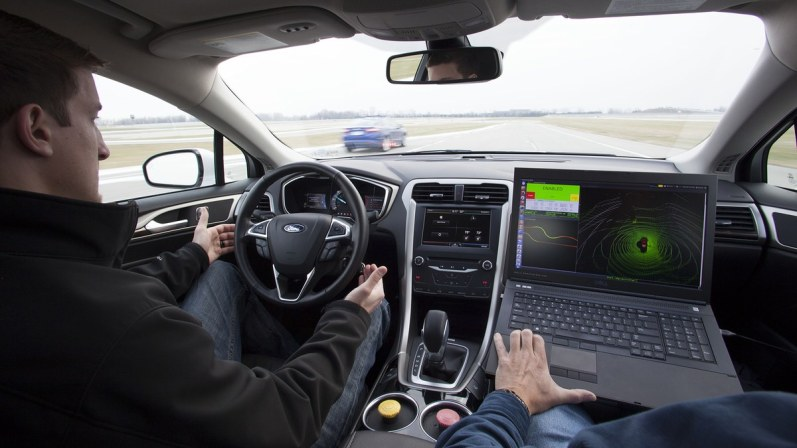 Ford's driverless car and gps mapping.