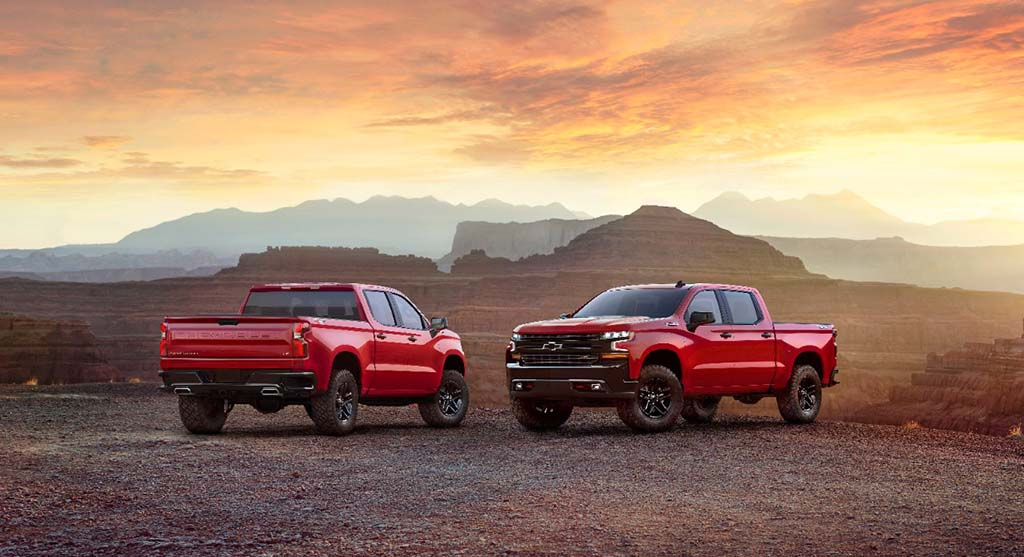 2019 Chevrolet Silverado makes a brief appearance at a private media event in Texas last month
