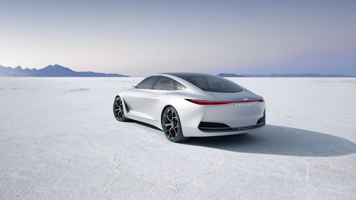 The INFINITI Q Inspiration Concept will make its debut on January 15 at the 2018 North American International Auto Show in Detroit. It is the first manifestation of INFINITI's new form language for an era of advanced powertrains and presents a design vision for vehicles in this segment.