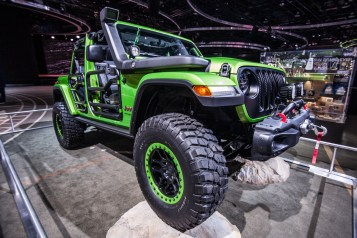 Jeep showed off their rock climbing Wranglers.