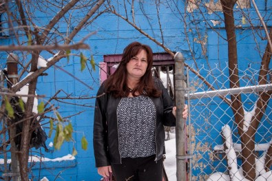 Standing at the back of the Dizzy Duck, Deborah said she would frequently go between the strip club, and the neighboring motel to meet men. The only thing separating the two, was a small alley. Photo Stephanie Hume.