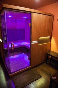 One of several individual sauna rooms at Meta Physica Wellness Center. Photo Stephanie Hume