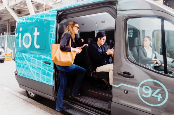Chariot, the crowd-sourced shuttle service launched in New York, will offer in-app ride booking for first - and last-mile commuting solutions, and the potential to reach underserved areas. Bailey Roberts for Chariot