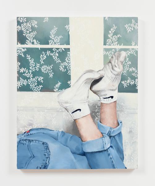 Nolan Simon Larger Socks, 2016 oil on canvas
