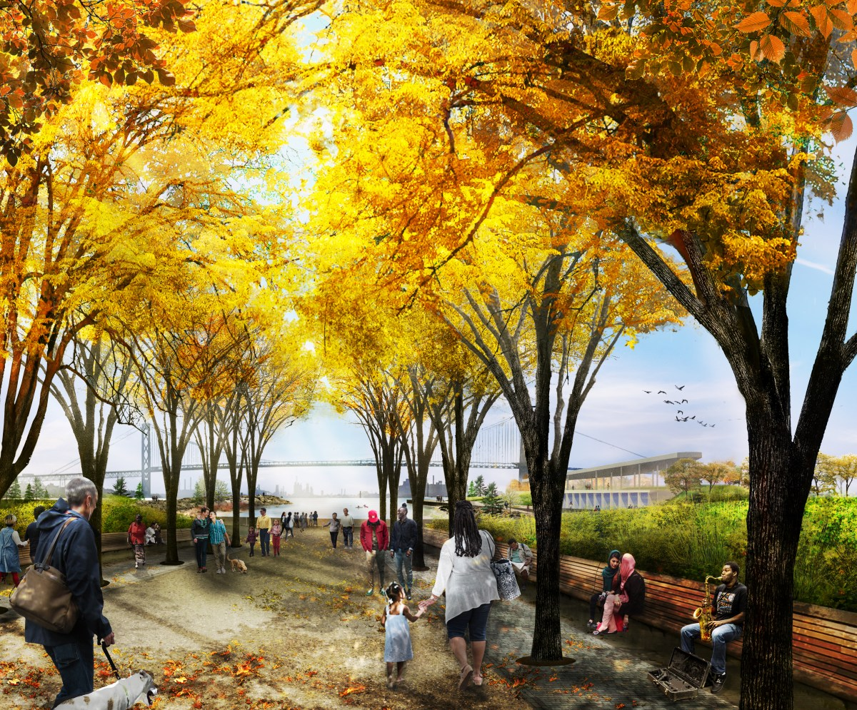 Entry to West Riverfront Park