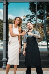 Owner of The Block, Stephanie Byrd, with Head Chef Adam Dorazio. Photo courtesy of CharleneOkwu.