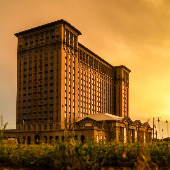 VIEW OF THE MICHIGAN CENTRAL STATION. PHOTO STEPHEN MCGEE