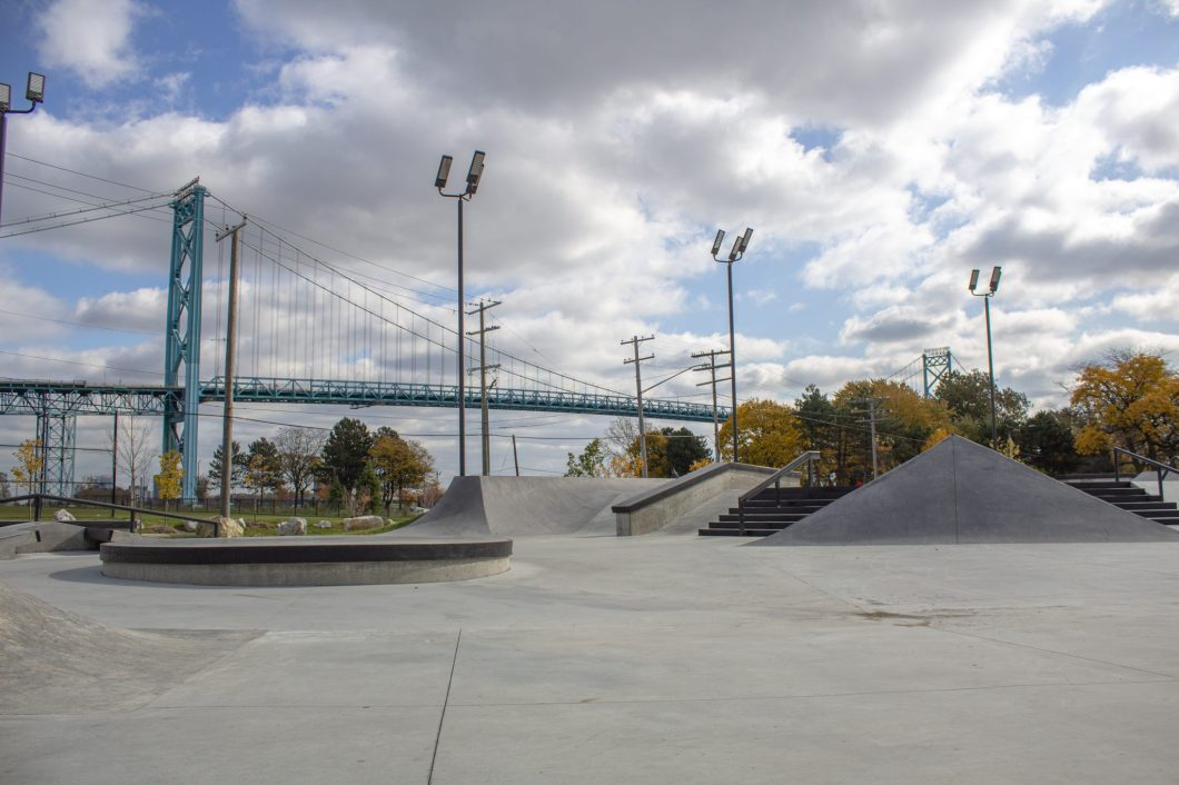 RIVERSIDE PARK IN SOUTHWEST DETROIT WAS DESIGNED AND BUILT BY COMMUNITY PUSH. PHOTO JOHN BOZICK