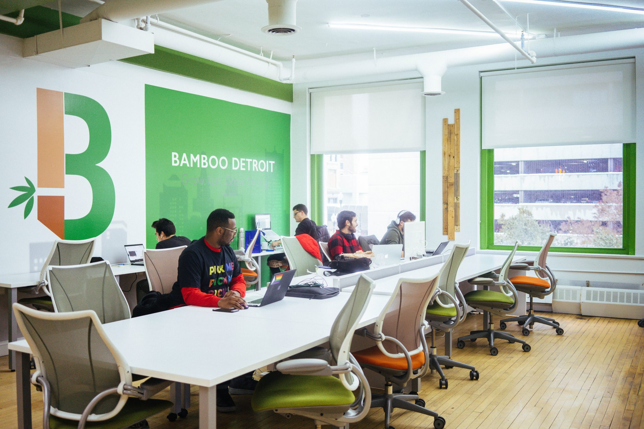 BAMBOO DETROIT WORKSPACE. PHOTO ACRONYM
