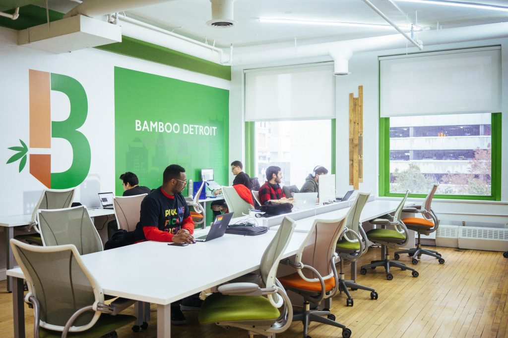 BAMBOO DETROIT WORKSPACE. PHOTO BY ACRONYM