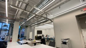 THE CLASSROOM SPACE INSIDE BUILD INSTITUTE. PHOTO BY KATAI