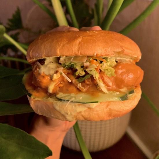 Chicken Sandwich KHANA CHICKEN SANDO. PHOTO BY KHANA DETROIT