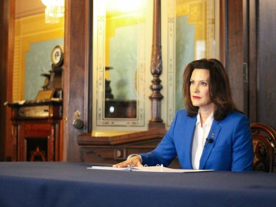 SCHOOL GOVERNOR GRETCHEN WHITMER ISSUES A THREE WEEK LOCKDOWN FOR THE STATE OF MICHIGAN. PHOTO THE STATE OF MICHIGAN