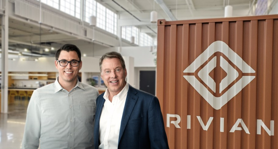 RJ SCARINGE, RIVIAN FOUNDER AND CEO, AND FORD EXECUTIVE CHAIRMAN BILL FORD ANNOUNCE A $500 MILLION FORD INVESTMENT IN RIVIAN. THROUGH A STRATEGIC PARTNERSHIP, FORD WILL DEVELOP AN ALL-NEW, NEXT-GENERATION BATTERY ELECTRIC VEHICLE FOR FORD'S GROWING EV PORTFOLIO USING RIVIAN'S SKATEBOARD PLATFORM.