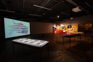 CHANGES THE CRIMES AGAINST REALITY EXHIBIT. PHOTO NEW RED ORDER