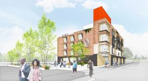 A RENDERING OF THE LOVE BUILDING. IMAGE COURTESY OF DESIGNING JUSTICE + DESIGNING SPACES