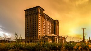 VIEW OF THE MICHIGAN CENTRAL STATION. PHOTO BY STEPHEN MCGEE