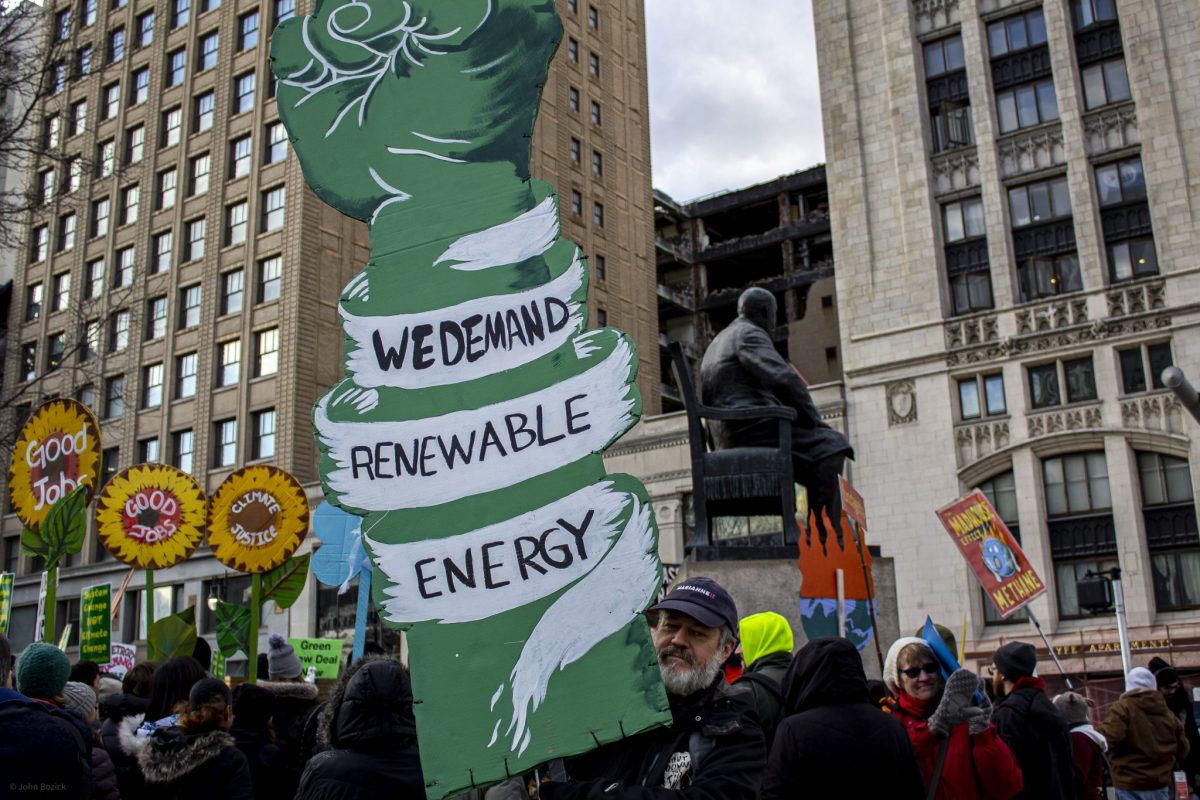 A CLIMATE JUSTICE MARCH IN DETROIT. PHOTO JOHN BOZICK
