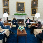 PRESIDENT BIDEN, VICE PRESIDENT HARRIS AND NEWLY APPOINTED TREASURY SECRITARY, JANET YELLEN, MEET WITH AIDS. PHOTO THE WHTE HOUSE / BIDEN ADMINSITRATION