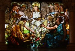 EDUCATION MADE BY TIFFANY GLASS CO. LOCATED AT YALE UNIVERSITY
