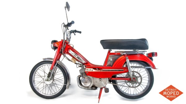 1980 Red Motobecane Moby 50VLC Detroit Moped Works 2