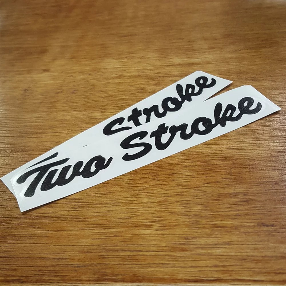 Indian moped inspired Two Stroke decal set