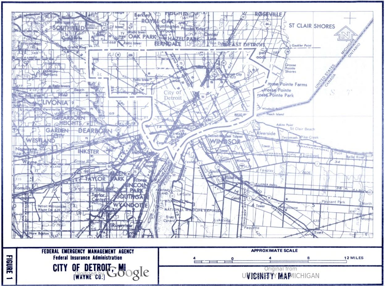 Detroit Flood Insurance Map