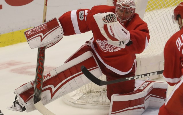 Red Wings goalie Jared Coreau learns another lesson in OT loss
