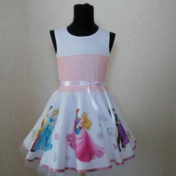 детска рокля с принцесите на дисни