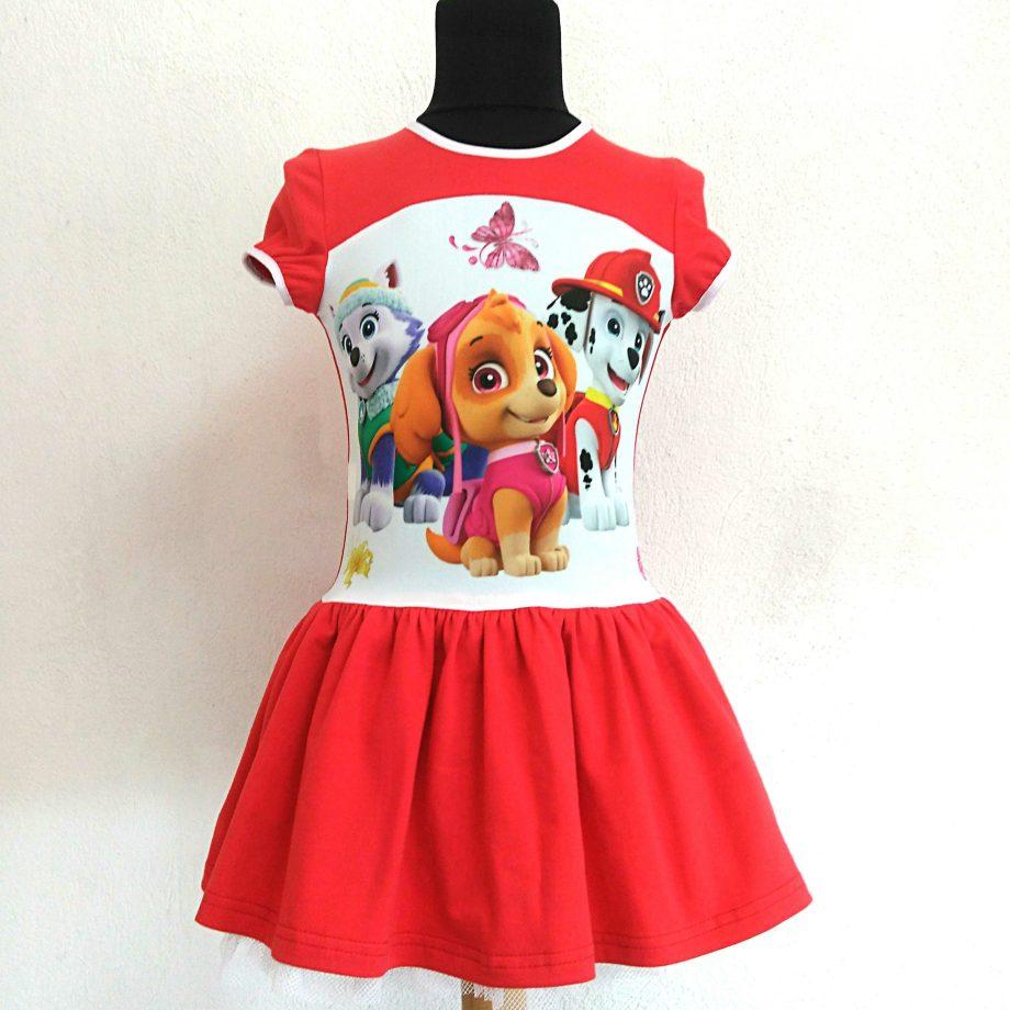 """Детска рокля """"Пес Патрул"""" с къс ръкав"""