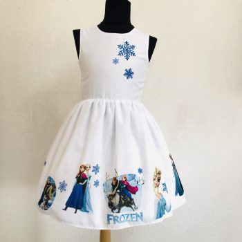 """Детска официална рокля """"Елза и Ана"""" с шлейф"""