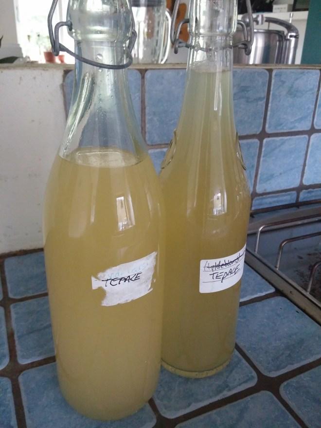 Tepache på flaske