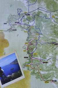 Den lykiske vei Tyrkia kart