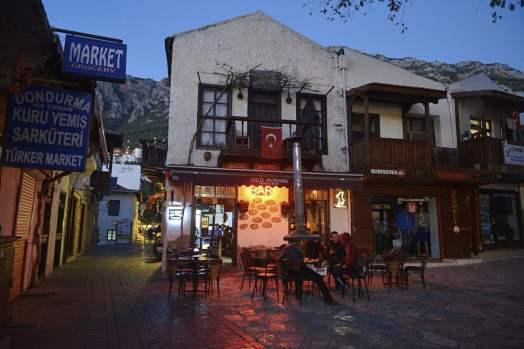 En bar i Kas langs den tyrkiske middelhavskysten