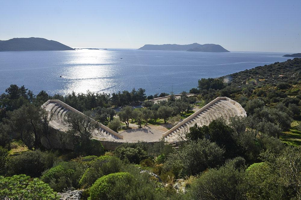 Amfiteateret i Kas i Tyrkia