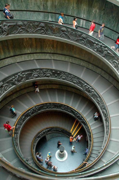 Trappa i Vatikanmuseet i Roma