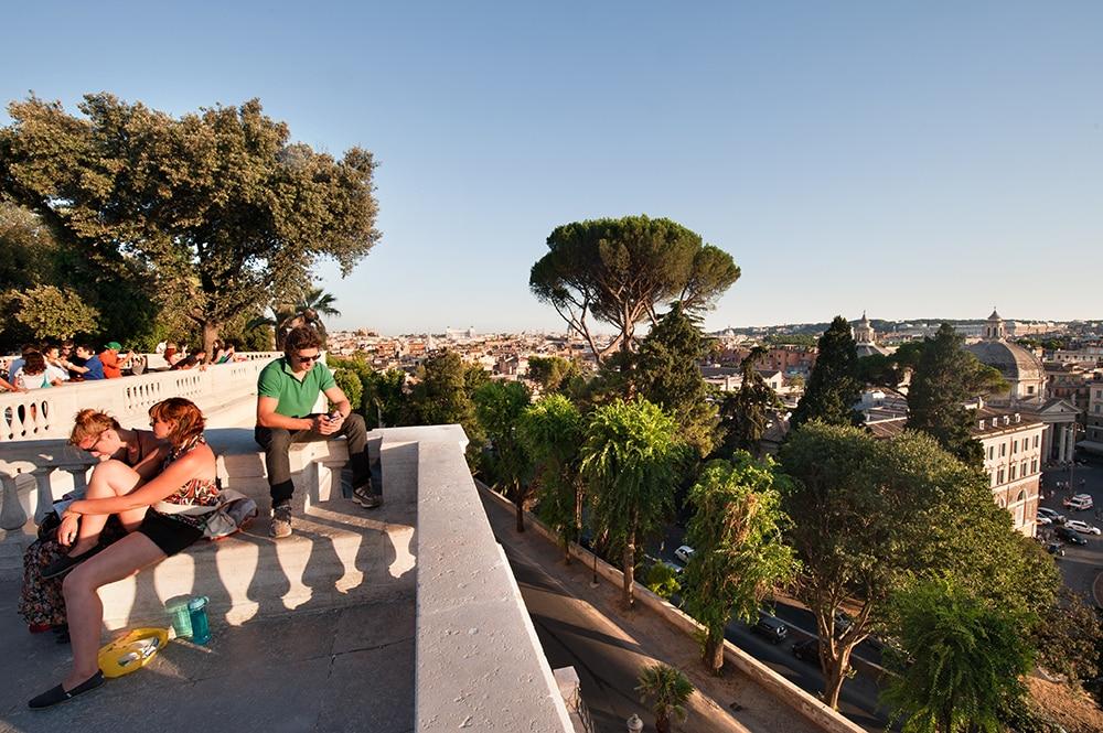 Terrazza del Pincio i Borghese-parken Roma