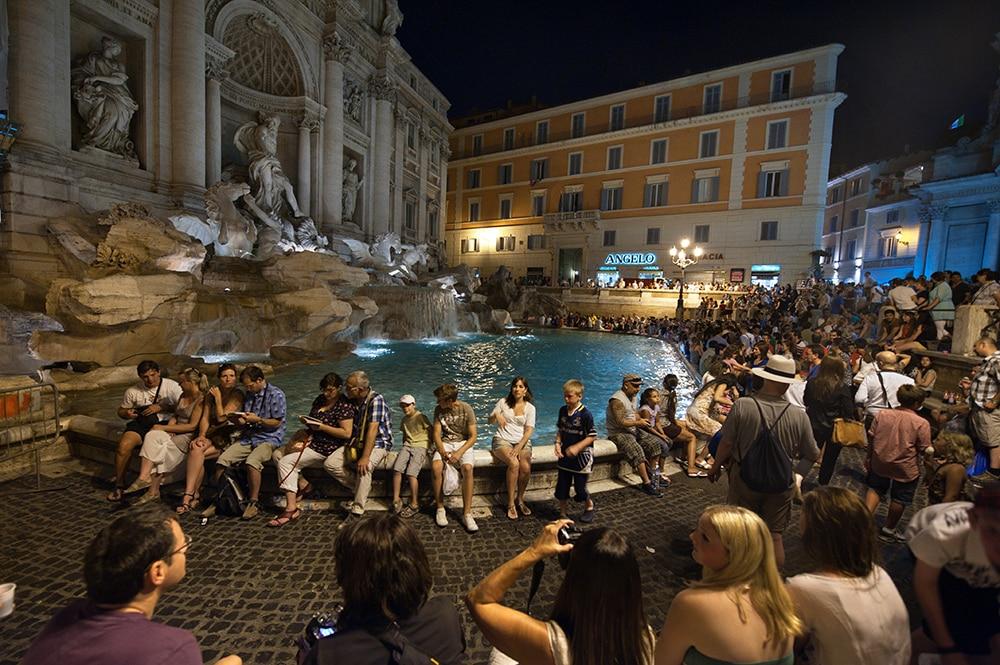 Trevi-fontenen, Roma, fontana di Trevi