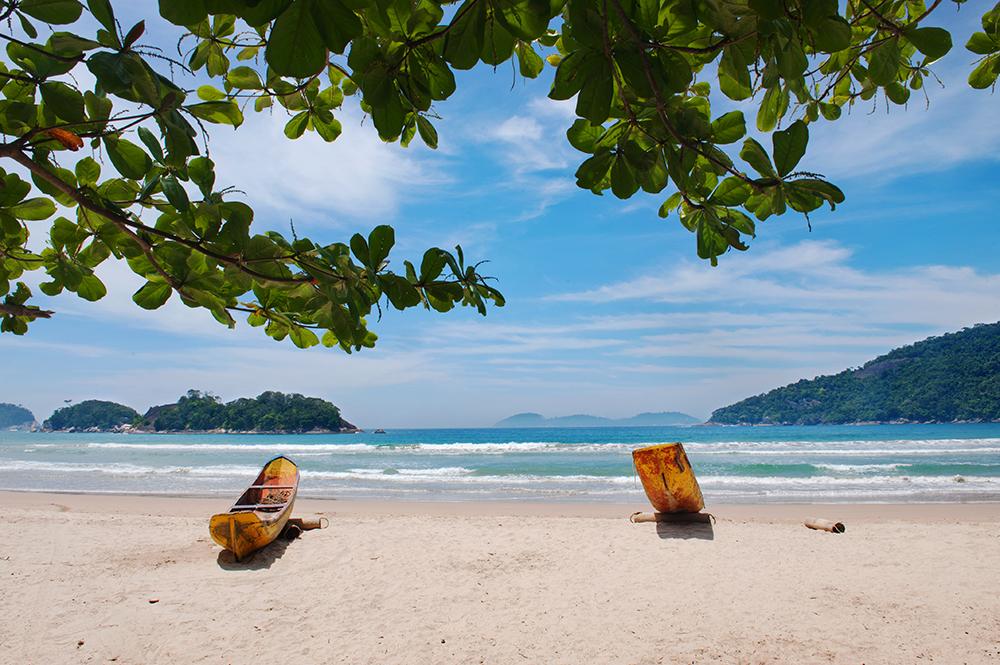 strand i Brasil, Ilha Grande, Dois Rios