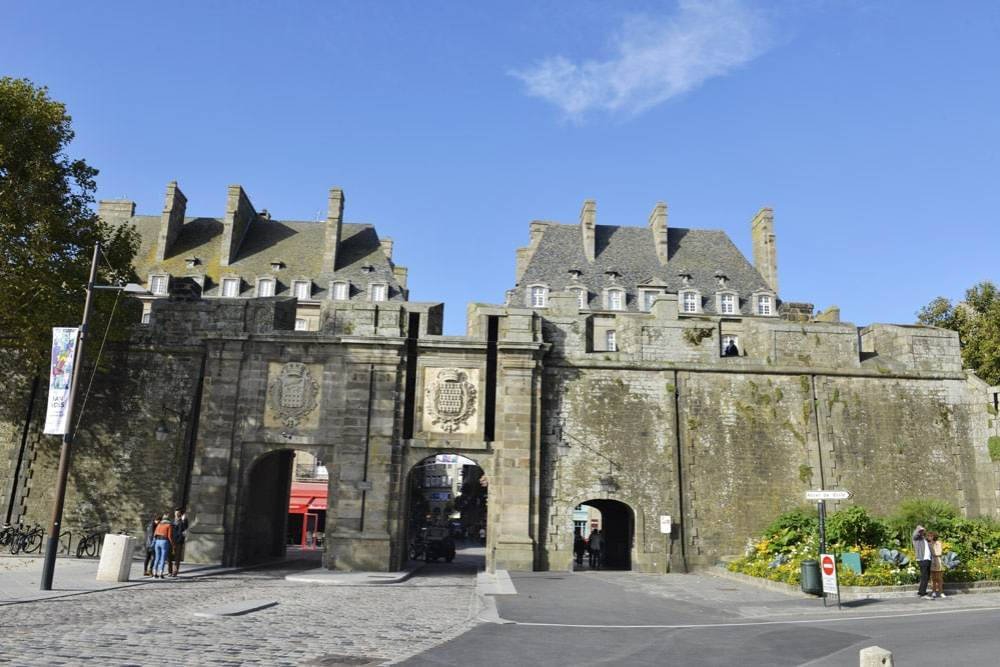 Porte St-Vincent, Saint-Malo, bymur, Frankrike, Bretagne