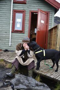 Laugavegur, Emstrur, Island, syngende hund
