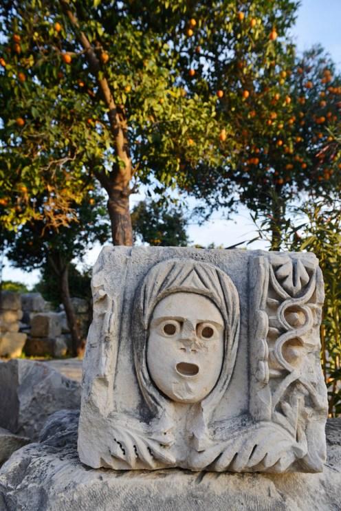 Myra Demre romersk ruin lykia lykisk ansikt