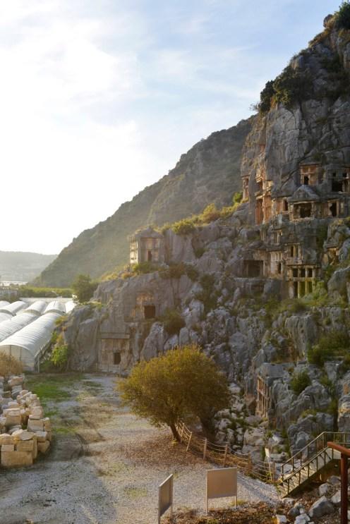 lykiske graver i Myra eller Demre i Lykia Tyrkia