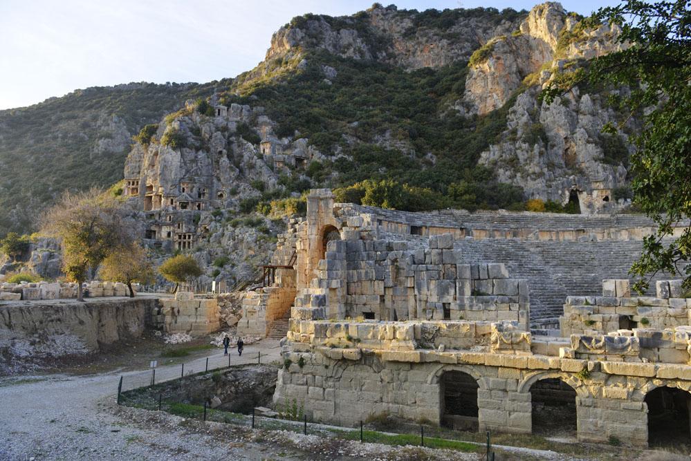 Romersk teater, Myra, severdigheter i Myra, Tyrkia, middelhavskysten, Lykia