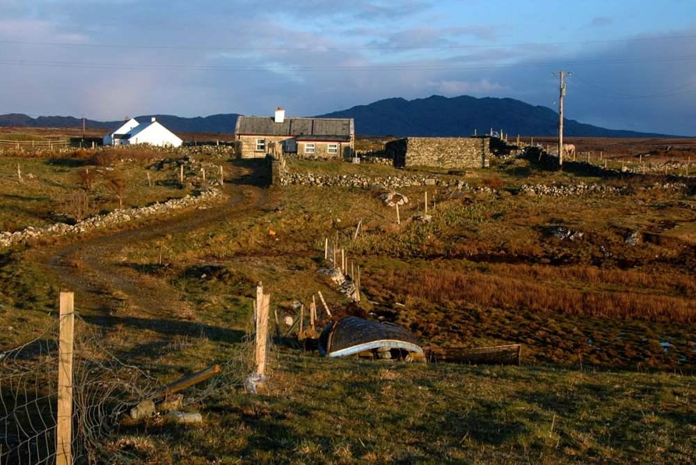 Trá Mhóir Clifden, Connemara gård