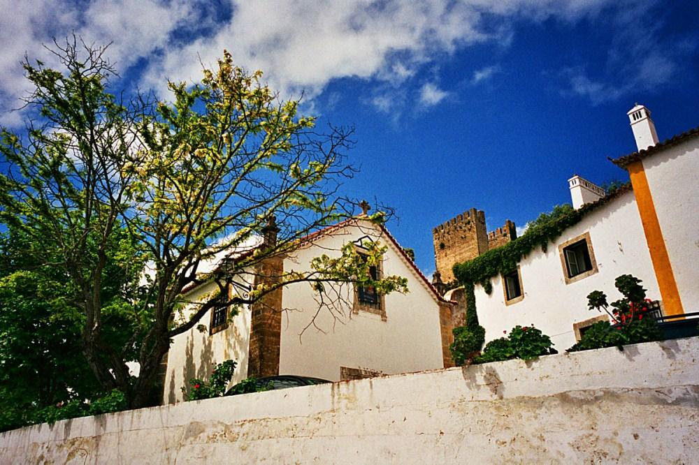Obidos gamleby i Portugal